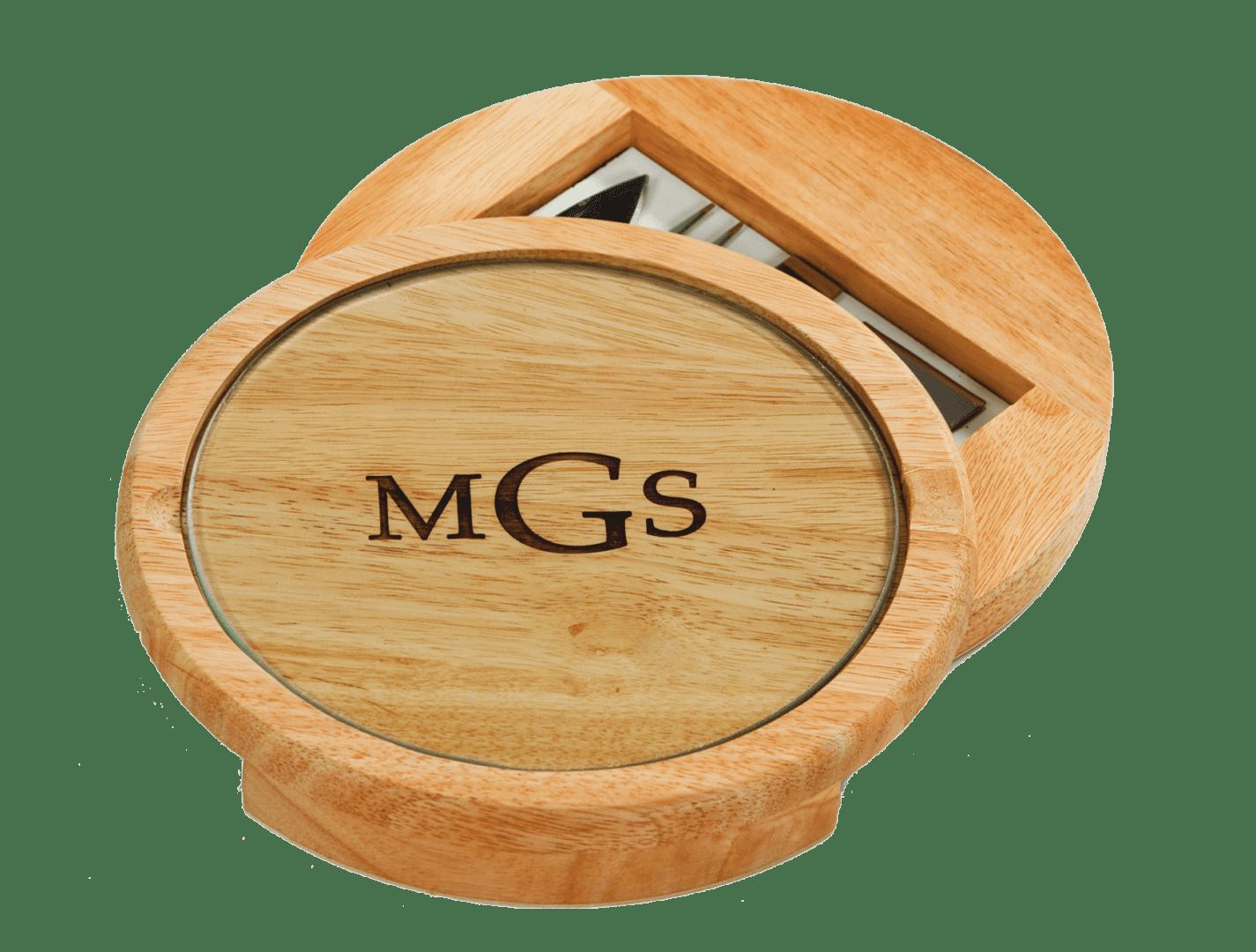 LASER ENGRAVE-M Monogram Wood