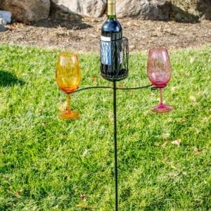 Ground Stake Wine Glass/Bottle