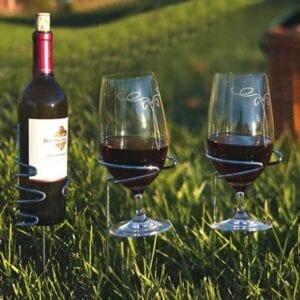 Handy Holder Combo (2) Wine glasses, (1) Bottle Holders