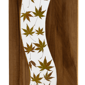 Autumn Serving Board Leaf Inlay